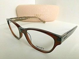 New LIU JO LJ 2629 LJ2629 210 Brown Cats Eye 53mm Rx Women's Eyeglasses Frame  - $99.99