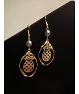 Pineapple Twist Dangle Pearl earrings - $20.00