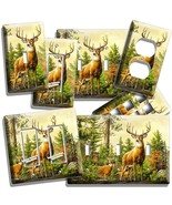 WHITETAIL DEER BUCK LIGHT SWITCH WALL PLATE OUTLET HUNTING CABIN HOME RO... - $10.99+