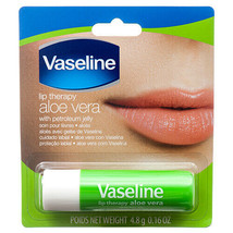 3 Vaseline Lip Therapy Aloe Lips | Lip Balm with Petroleum Jelly for Providing - $5.99