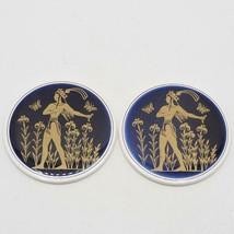 Vintage Pair Pandora Classics Greece Greek Mythology Coasters - $14.84