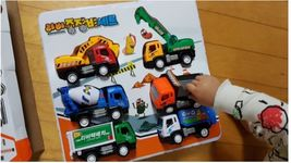 Larva Pull Back Heavy Machinery Equipment Toy Car Vehicle 6 Pieces Set image 4