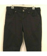 Seven For All Mankind Pants Womens Size 8 Black Stretch Skinny Jean Design - $24.99