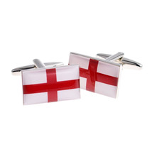 England st george Flag  design Cufflinks cuff links in gift box the red,white