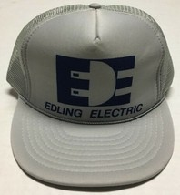 Vtg Edling Electric Trucker Hat Bismarck North Dakota Cap Electrician El... - $25.24