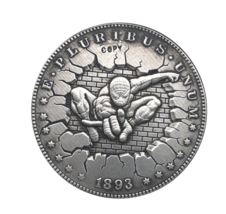 Hobo Nickel 1893-S USA Morgan Dollar Spider Man Hero COIN For Gift  - $6.99