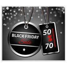 Black Friday Sale Business Window Display Retail Large Format Sign - $12.38