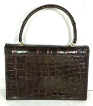 Bellestone True Vintage Brown Reptile Print Leather Handbag - $65.95
