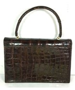 Bellestone True Vintage Brown Reptile Print Leather Handbag - $65.95