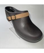 CROCS Dual Comfort Sarah Slip On Mule Clogs Espresso Brown Womens Size 9  - $34.99