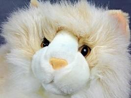 "Fiesta Cat Persian Plush Lying 16"" Sandy White Stuffed Himalayan Kitten - $46.55"