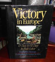 Victoire en Europe D-Day To Ve Jour dans Polychrome Livre Relié Max Hast... - $7.91