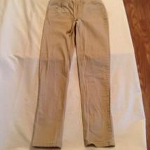 Justice pants Size 16 khaki uniform simply low super skinny waistband Girls - $15.99
