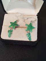 Avon SP Drop Dangle Earrings Nautical Theme Starfish and Shell Hook Wome... - $9.90