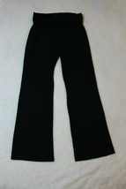 Children's Place Girls Pants Size 8 Black Roll Down Waist Yoga Dance Lounge - $17.81