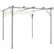vidaXL Garden Pergola Retractable 9.8'x9.8' Gazebo Outdoor Canopy Shade ... - $224.99