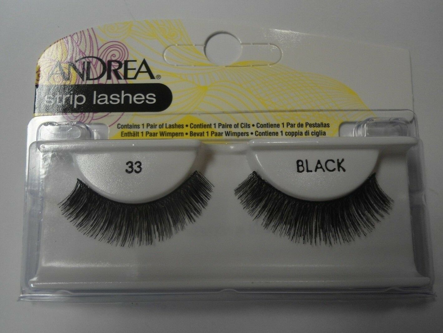 Primary image for Andrea's Strip Lashes Fashion Eye Lash Style 33 Black - (Pack of 6)