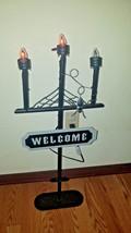 "Halloween 30"" ""Welcome"" Flickering Candelabra Light Yard Decoration - $29.99"