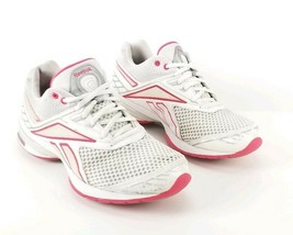 Reebok Easy Tone Shoes Womens Sz 9 White Pink Play Dry - $38.51