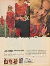 Psychedelic Fashion Clairol Nice'n Easy Shampoo 1966 AD - $10.99