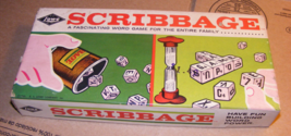 1963 Scribbage Game Word Game No. 954 by Lowe - $22.00