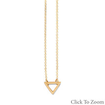 Gold Chain Necklace with Open Triangle Pendant - $46.99