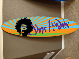 Jimi Hendrix wall hanging surf board surfboard ... - $89.99
