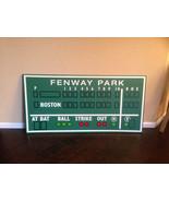 Boston decor, Fenway Park, Green Monster score board baseball scoreboard - $155.00
