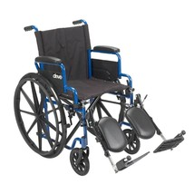 Drive Medical Blue Streak Wheelchair With Leg Rests 18'' - $152.40