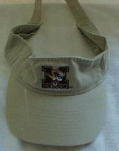 Missouri Tan Trimmed In Black< White & Gold Color Sun Visor New Without Tags - $7.53