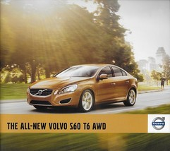 2011 Volvo S60 sales brochure catalog 11 US T6 AWD - $8.00