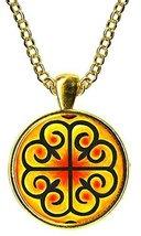 Adinkra Nyame Dua of Gods Altar for Presence & Protection Gold Pendant - $14.95