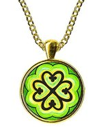 Adinkra Nyame Dua Tree of God for Protection Gold Pendant - $14.95