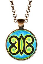 Adinkra Hye Wo Nhye of Unburnable Self or Undying God Anntique Copper Pe... - $14.95