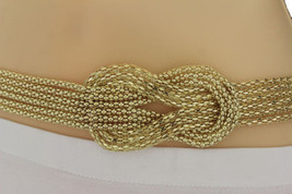 New Women Gold Mesh Braided Metal Fashion Belt Hip High Waist S M Regula... - $18.60