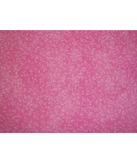 Cotton Fabric Bright Pink with White Flowers - $10.00