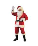 Santa Suit Costume Red White Halloween Christmas Gloves Beard Belt Boot ... - $56.40