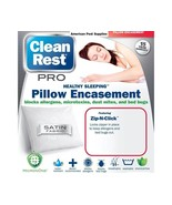 "Clean Rest Pro Bed Bug Proof Pillow Cover Encasement  2 Pack King  20"" x... - $39.00"