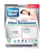 "Clean Rest Pro Bed Bug Proof Pillow Protector Cover  2 Pack Queen 20"" x 30"" - $35.99"