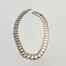 Vintage Designed by Paula Silver Tone Disc Necklace - $7.76