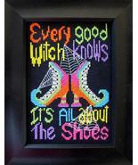 Good Witch halloween cross stitch chart Bobbie G Designs - $7.20