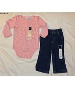 Sonoma Pink Onesie & Blue Jeans  Size 12M  NWT - $10.00