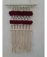 Handwoven Macrame Wall Hanging With Chenille Yarn And Macrame Rope - $20.79