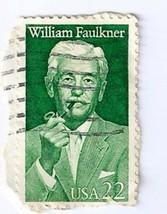 US William Faulkner 22 cent Stamp  Postmarked 1... - $12.19