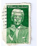 US William Faulkner 22 cent Stamp  Postmarked 1... - £9.57 GBP
