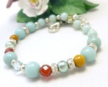 Te carnelian citrine sterling beaded bracelet 8 inch blue aqua  97aa6e13 512345 1  thumb155 crop