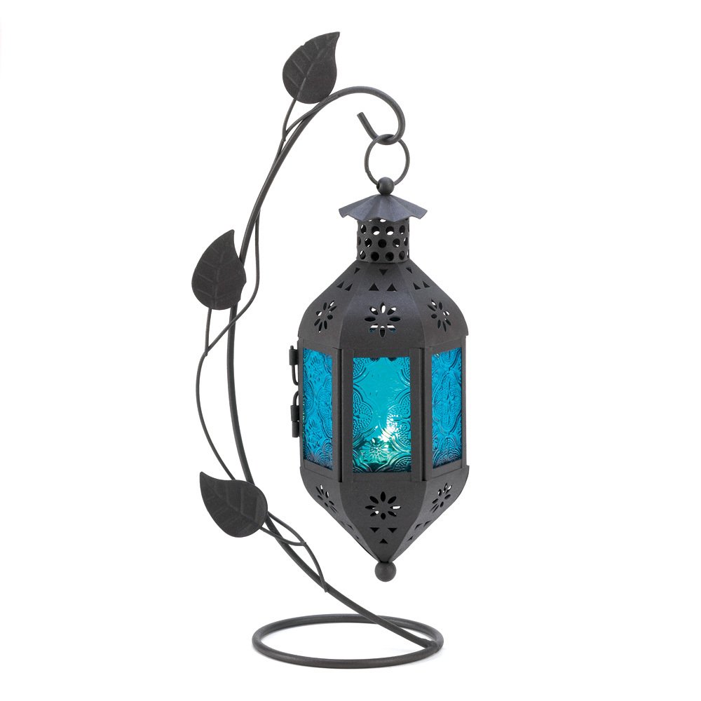 Primary image for  freestanding lantern  candle Lamp SAPPHIRE BLOOM