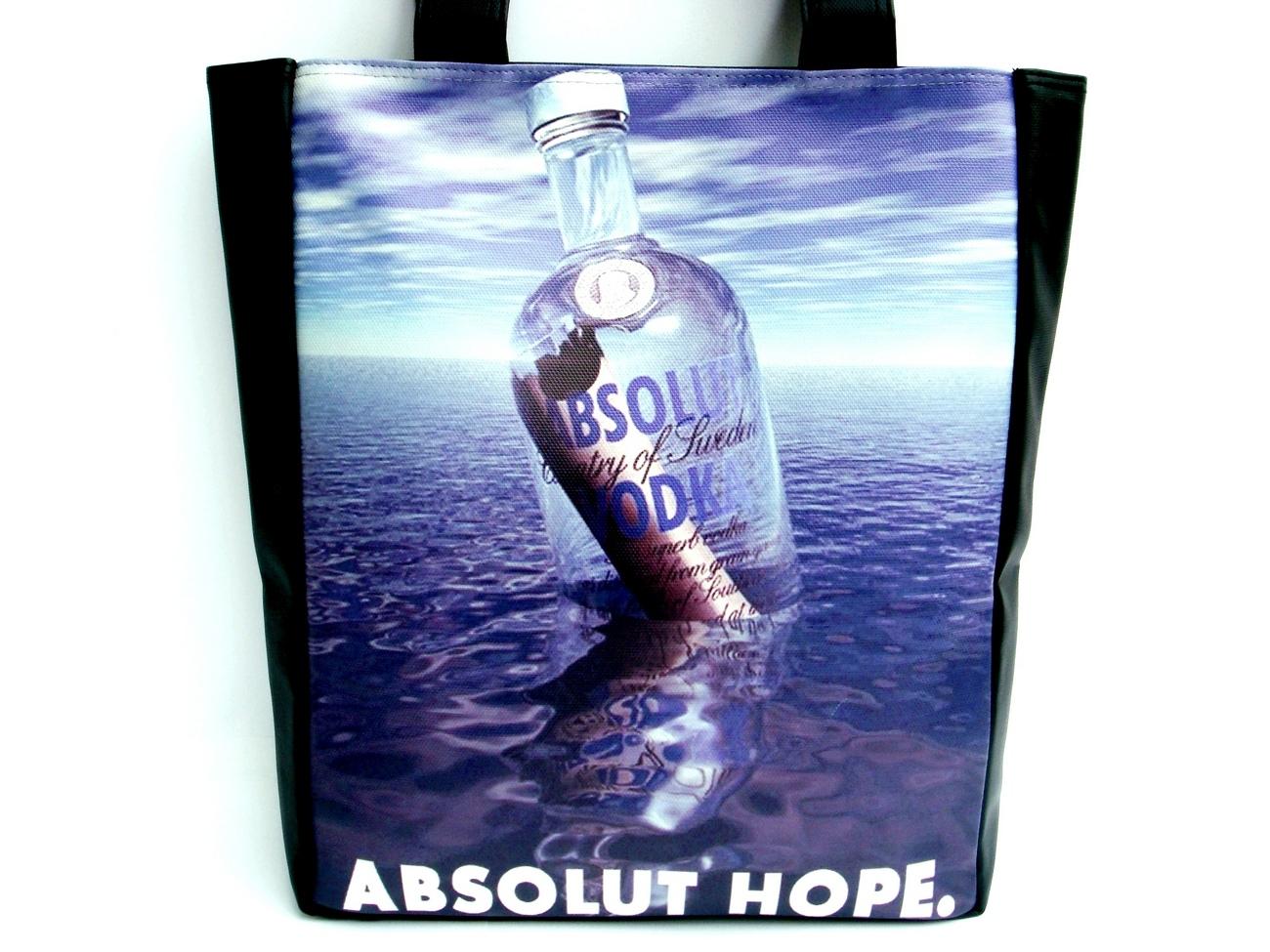 Absolut Vodka Hope Fashion Large Tote Shoulder Bag Purse Bonanza