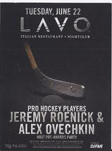 JEREMY ROENICK, ALEX OVECHKIN Pre-Awards Party at LAVO Las Vegas Promo Card - $1.95