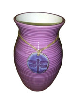 CASE OF 12 - Teleflora My Darling Dragonfly Pendant Purple Glaze Flower ... - $99.95